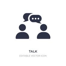 Talk Icon On White Background....