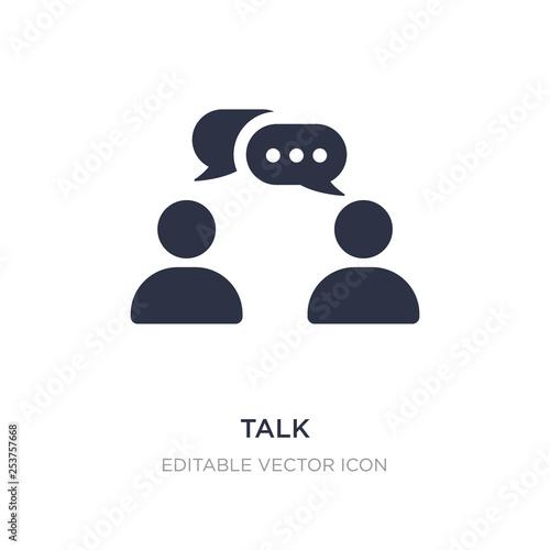 Photo talk icon on white background
