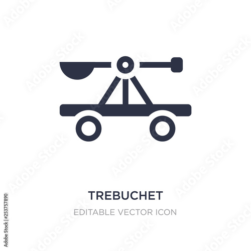 trebuchet icon on white background Slika na platnu
