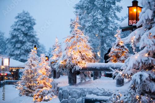 Photo Santa claus village lapland finland