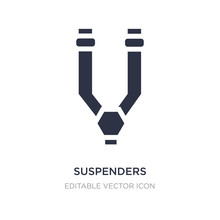 Suspenders Icon On White Background. Simple Element Illustration From Fashion Concept.