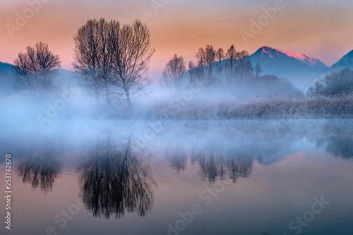 Panorama wzdłuż rzeki Adda