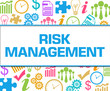 Risk Management Colorful Business Texture Square