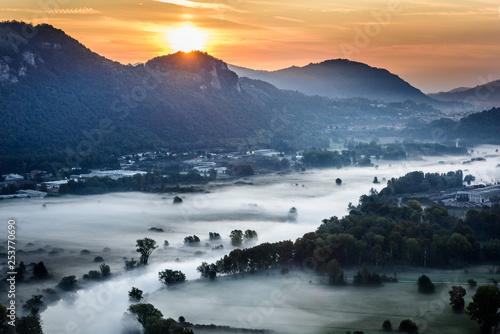 Fototapety, obrazy: Panorama lungo il fiume Adda
