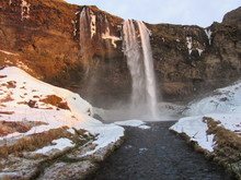 Seljalandsfoss Waterfalls . Ca...