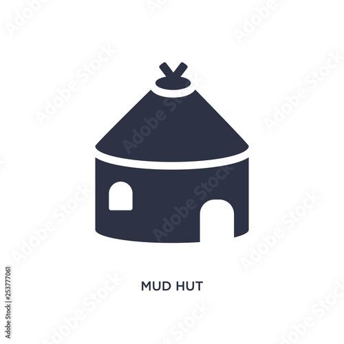 mud hut icon on white background Tableau sur Toile