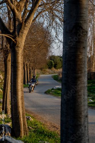 Fotografie, Obraz  Driving a motorbike on a rural road