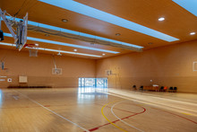 Interior Of A Sports Hall Without Anyone Before Playing