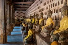 Row Of Buddha Statues, Wat Sis...