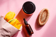 Natural organic cosmetics, homemade spa cream, oil.