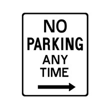 No Parking Anytime Sign Icon