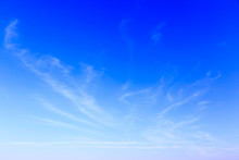 Blue Sky Background And White ...