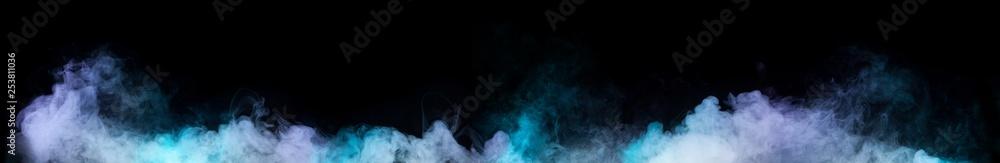 Fototapety, obrazy: Colorful smoke shapes on black background