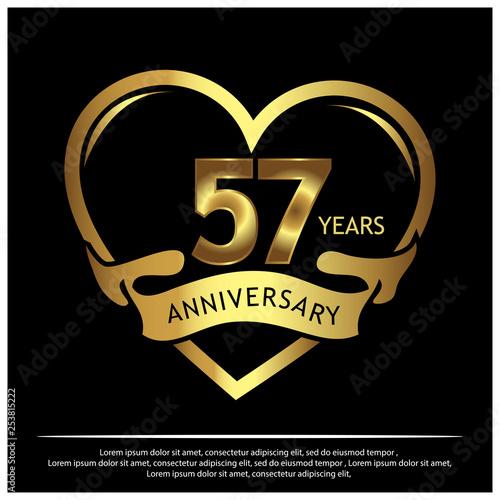 Photo  57 years anniversary golden