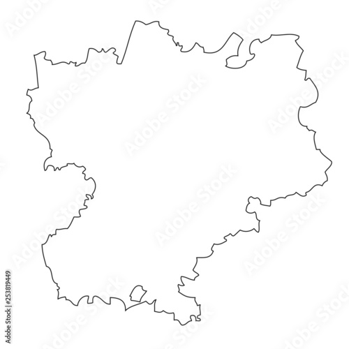 Fotografie, Obraz  Rhone — Alpes - map region of France
