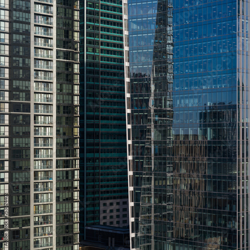 Photo Glass Fa�ade of Office Buildings, Toronto, Ontario, Canada