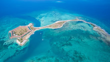 Aerial View Of Dry Tortugas In...