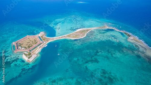 Valokuva aerial view of Dry Tortugas in Key West Florida