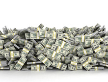 Tall Pile Of Us Currency - US ...