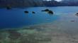 Tropical Island Archipelago Tilt Down Hidden Hot Spring.