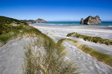 Wharariki Beach And Rocks New Zealand, West Coast, South Island