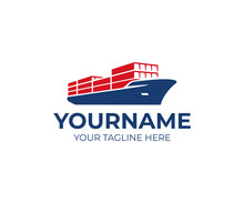 Cargo Vessel Ship Logo Design....