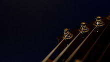 Guitar Headstock . Color Background