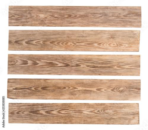 Old wooden planks isolated on white background Slika na platnu