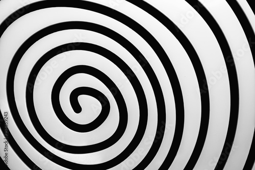 Poster Spirale Simple black and white spiral