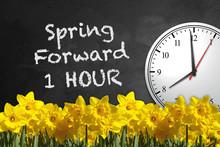 Chalkboard Clock - Spring Forw...