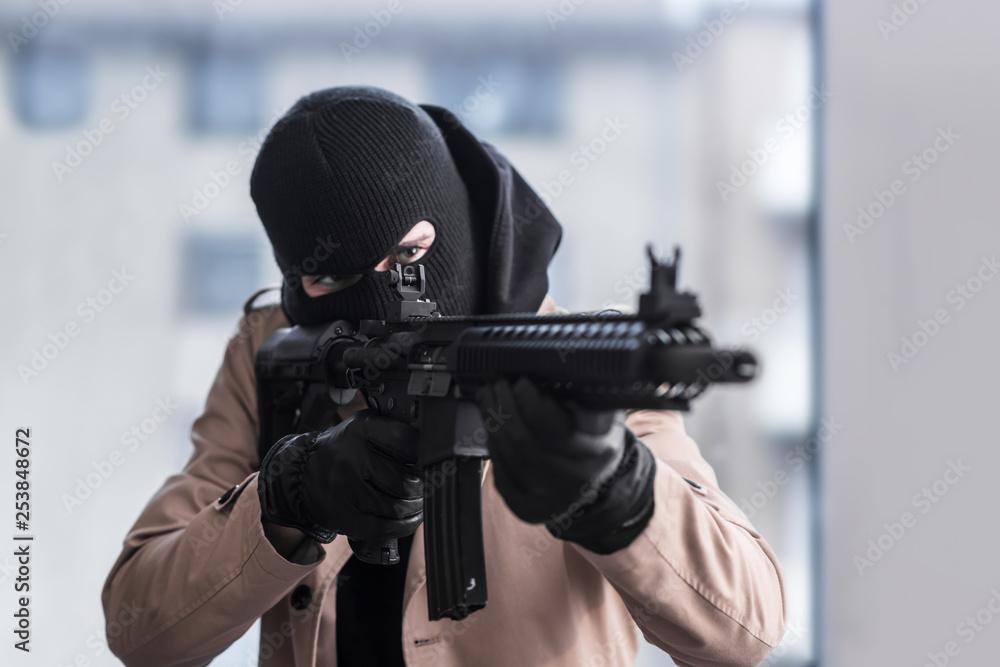 Fototapeta Assault Rifle Gunpoint