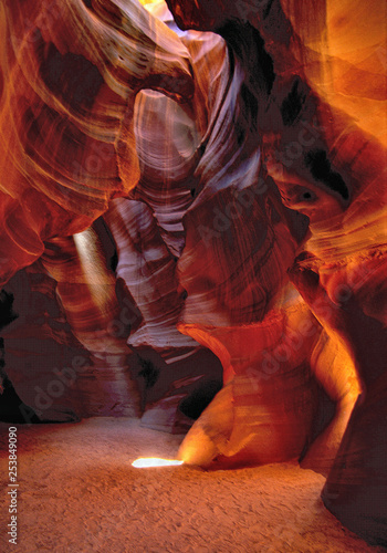 Printed kitchen splashbacks Brown Antelope Canyon, Page, Arizona