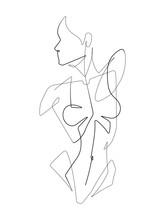 Female Figure One Continuous L...