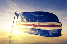 Cabo Verde Flag Waving On The ...