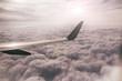 Über den Wolken im Flugzeug - In the clouds
