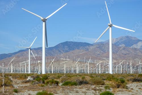 Fotografie, Obraz  Wind Turbines Alternative Energy