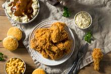 Homemade Southern Fried Chicken Dinner