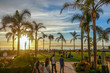 canvas print picture - Sunset at Coronado Beach, San Diego, CA