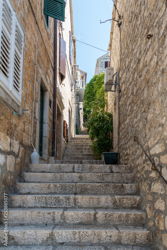 Canvas Prints Narrow alley Two Weeks in Croatia - Hvar