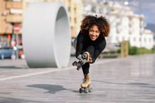 Black Woman On Roller Skates R...