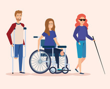 Disabled People With Physical Injury Rehabilitation