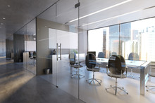 Glass Office Room Wall Mockup ...