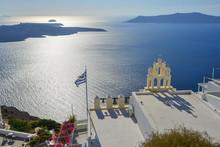 Orthodox Church On Santorini Island