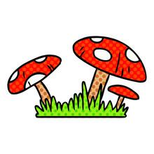 Cartoon Doodle Of A Toad Stool