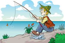 Fisherman Cartoon Character