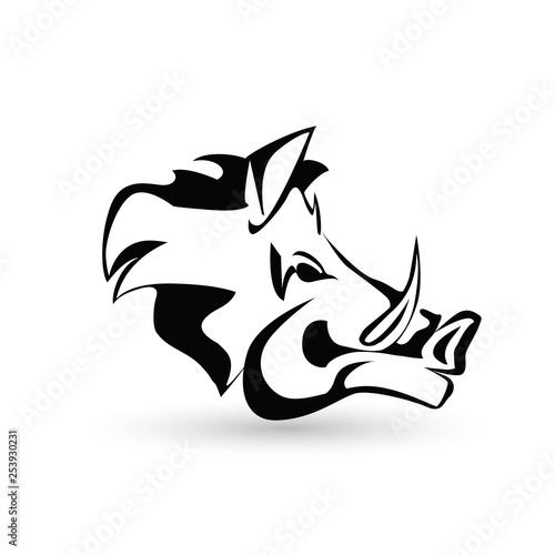 Vászonkép wild boar icon