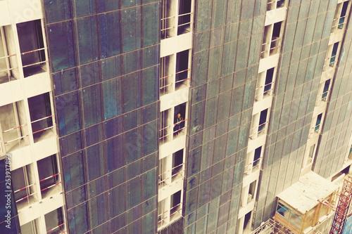 Photo Close up Under construction new Condominium Building at Kuala Lumpur, Malaysia