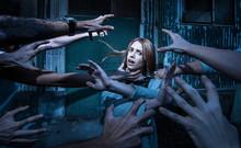 Horror. Many Zombie Hands Are ...