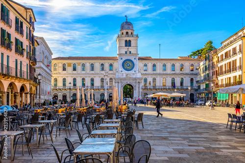 Piazza dei Signori and Torre dell'Orologio (Clock Tower) in Padua (Padova), Veneto, Italy - 253954829