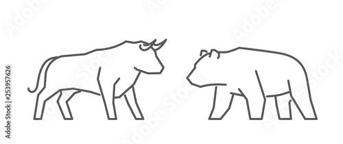 Line vector web concept for stock market